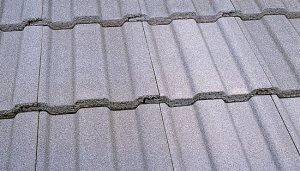 Greystone colored concrete roofing tile