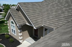 Decra Stone Coated Steel Roof Pinnacle Grey in Houston from Texas Home Exteriors The Woodlands