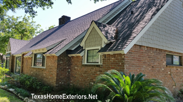 After Texas Home Exteriors Houston TX James Hardie Colonial Rough Sawn and Hardie Shingle Staggered