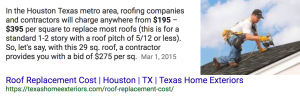 Roof Replacement Cost by Texas Home Exteriors